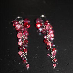 Tangling Red Bead Earrings